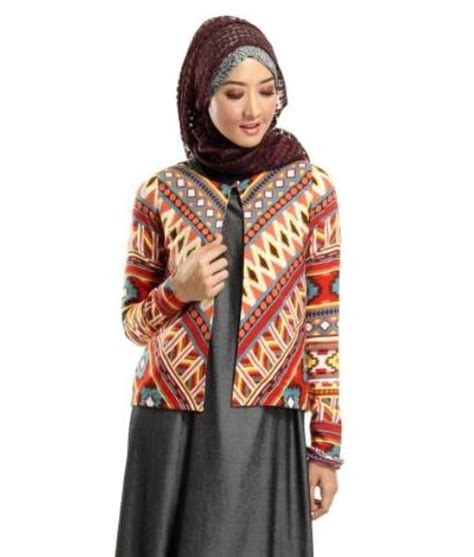 Blazer Batik desain model blazer wanita terbaru info tren baju