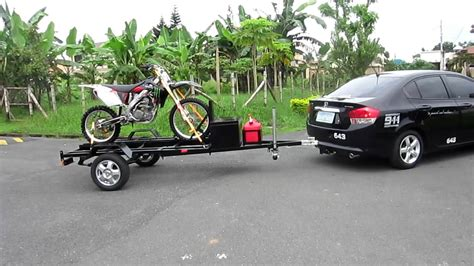motocross bike trailer dirtbike trailer test run