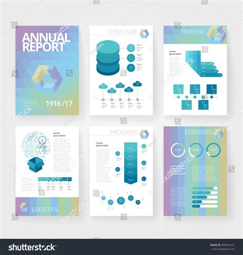 business brochure design template with infographics