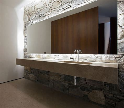 large mirror for bathroom wall bathroom stone wall large mirror marble sink concrete house in s 227 o paulo brazil