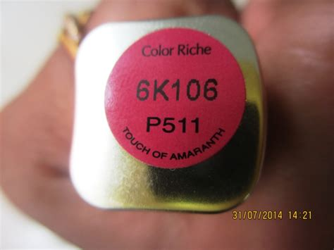 l oreal color riche intense lip color touch of l oreal color riche intense lip color touch of amaranth