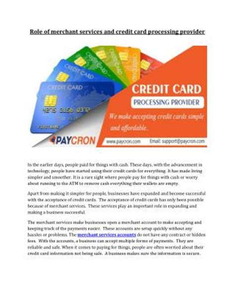 credit credit service provider ppt merchant credit card processing powerpoint