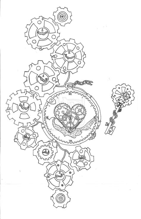 tattoo gears design 486 best images about drawing steunk on