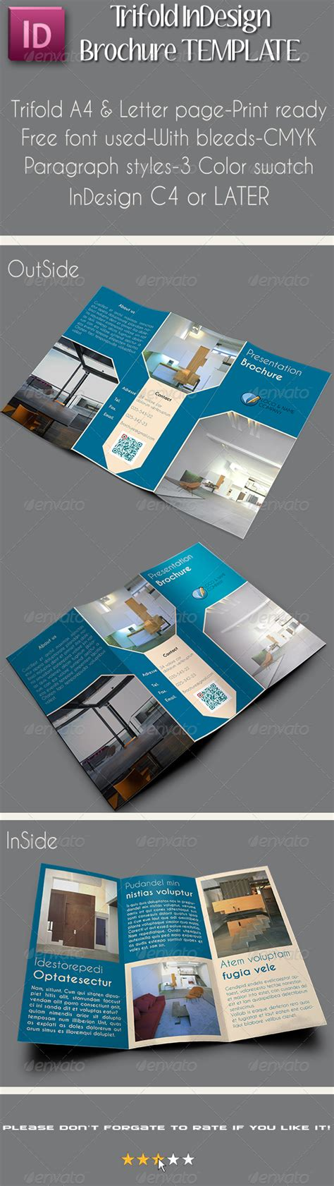 a4 letter trifold brochure template vol 1 brochures