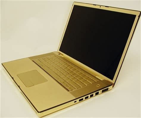 Laptop Macbook Gold macbook pro in 24 carat gold itech news net