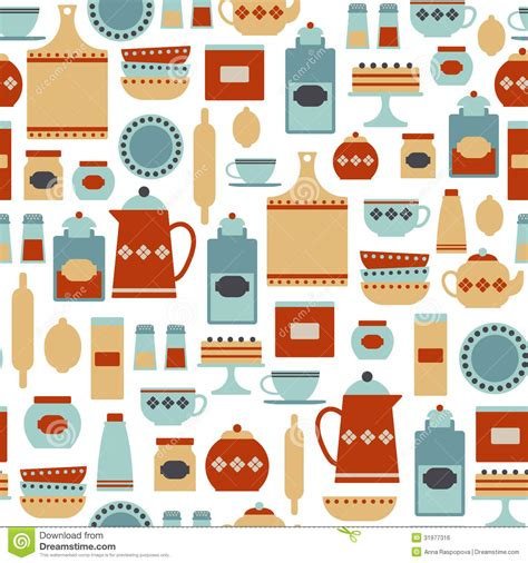 kitchen pattern kitchen pattern royalty free stock image image 31977316