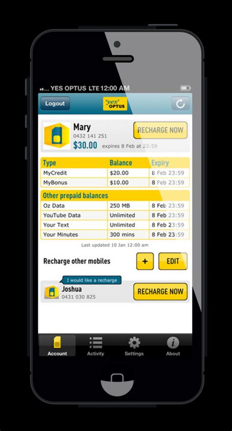 best prepaid mobile service optus recharge now app 2013 mobile awards
