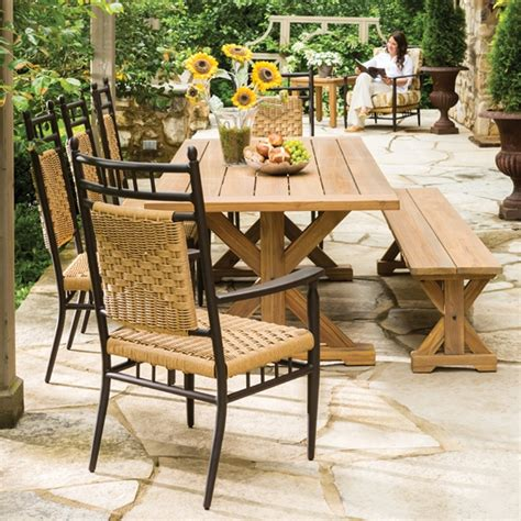 lloyd flanders low country vinyl wicker dining set with