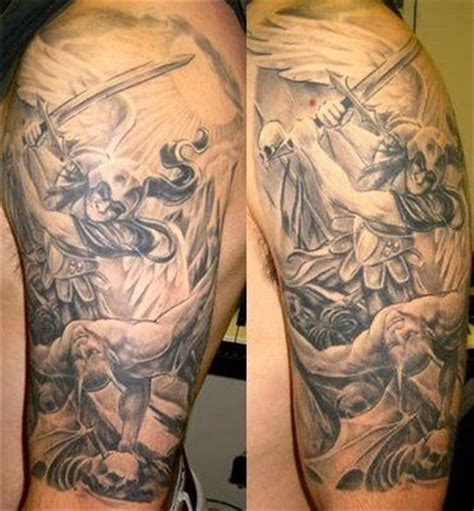 tr st tattoos designs st michael 2 ideas