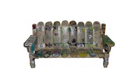 skateboard bench seven inspiring ways to recycle skateboards green diary green revolution guide by
