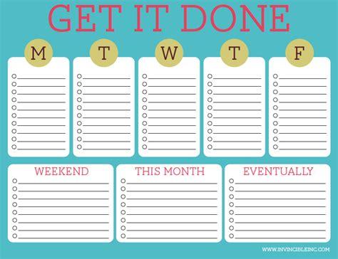 organization time management part list