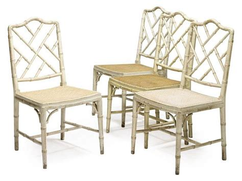 Bamboo Dining Chair A Set Of Four Painted Simulated Bamboo Dining Chairs Late 20th Century Christie S