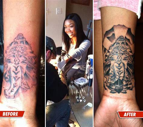 tattoo fixers online brandy s elephant tattoo now with less tip tmz com