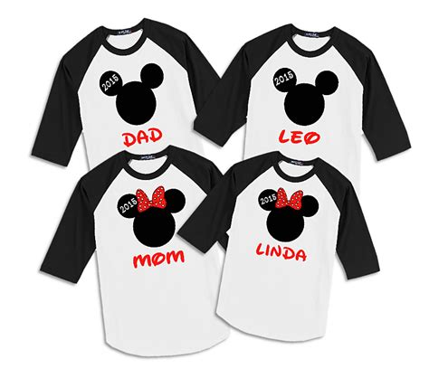 T Shirt Mickey Minnie disney reindeer family vacation raglan t shirts the official site of logan to layla