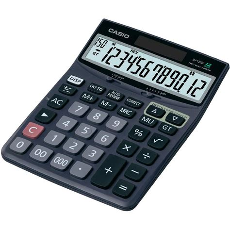 Desk Top Calculator by Casio Dj 120d Desktop Calculator Casio From Conrad