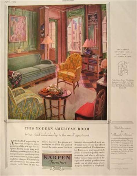 American Furniture Ad by 1929 Karpen Furniture Ad Modern American Room Vintage
