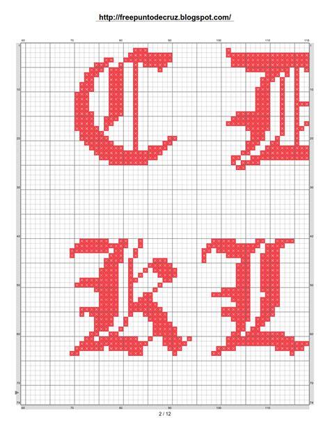abecedario en punto de cruz para imprimir pin alfabeto en punto de cruz pachakamaqcom manualidades