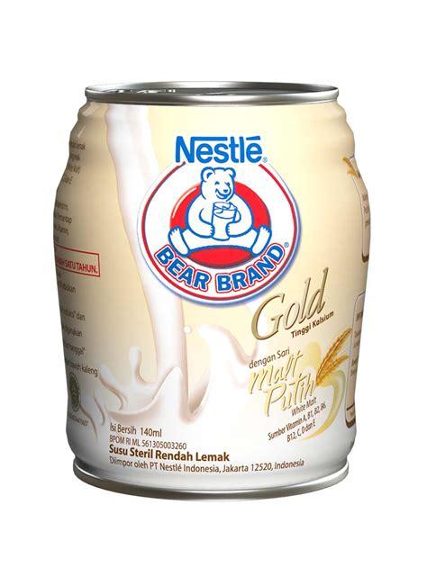 Nestle Brand Gold Malt Putih Beruang Steril Rendah Lemak brand encer gold malt putih klg 140ml klikindomaret