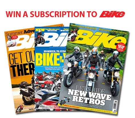 Today Show Scotland Giveaway - mcn advent giveaway day 22 win a subscription to bike magazine mcn