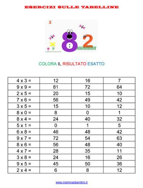 tavola delle tabelline nuove tabelline per tutti mamma e bambini