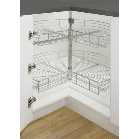 Flat Kitchen Cabinets kaboodle 2 tier corner rotating baskets bunnings warehouse