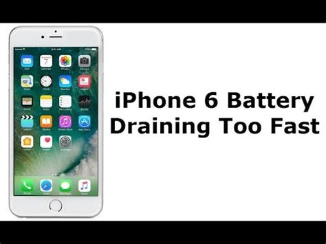 iphone battery drain iphone 6 battery draining fast all of a sudden here s the fix