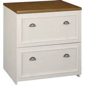 bush fairview 2 drawer lateral file cabinet antique white