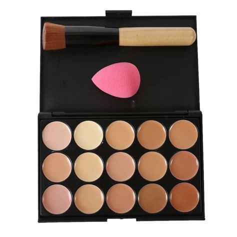 color concealer 15 colors concealer palette kit brush sponge face makeup