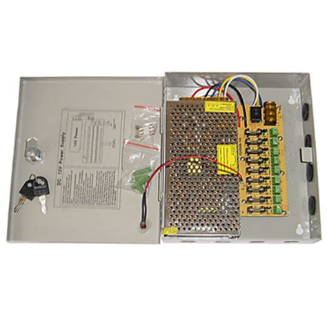 Spc Power Supply Cctv 12v 10a Garansi 1 Tahun 9 channel 12v dc 10a regulated power supply for cctv