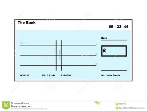 blank cheque template uk blank cheque stock illustration illustration of