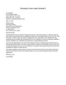 Cover letter for secretary position examples sample cover letter