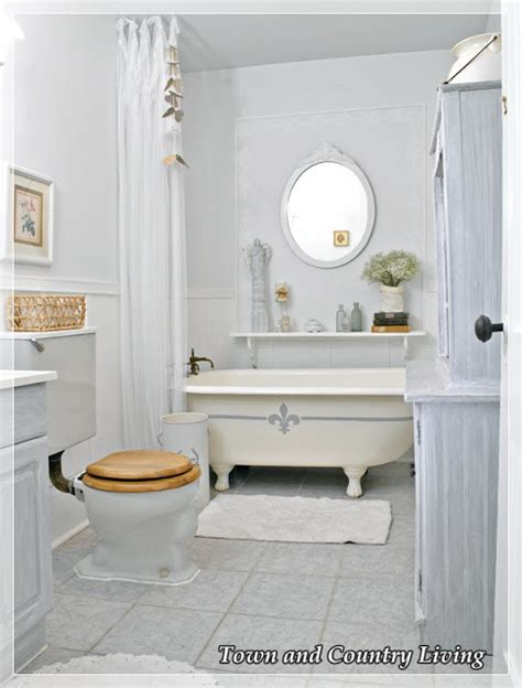 country living bathrooms my claw foot tub gets frenchified town country living