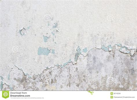 old white old white paint texture peeling off concrete wall stock