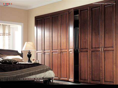interior classical interior wardrobe design at edge of bedroom