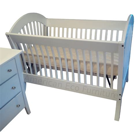 Usa Baby Cribs Pacifica Convertible Baby Crib Made In Usa Solid Wood American Eco Furniture