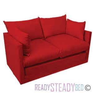 fold out bed red fold out kids 2 seater sofa sleepover guest bed futon childrens furniture ebay