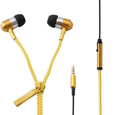 Headset Zipper Earphone Resleting Mic 1 stereo bass headset in ear 3 5mm zipper earphone headphone mic earbuds for iphone 4 5 5s for