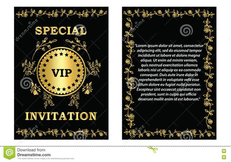 Golden Vip Invitation Template Stock Vector Image 75747082 Vip Birthday Invitations Templates Free