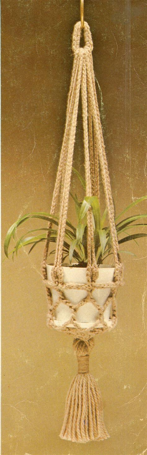 Plant Hanger Pattern - crochet plant hanger pattern