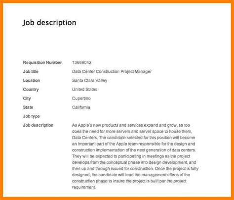 Introduction Letter For Project 8 construction project manager description