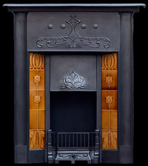 Fireplace Grates Uk by Tiled Nouveau Fireplace Grate