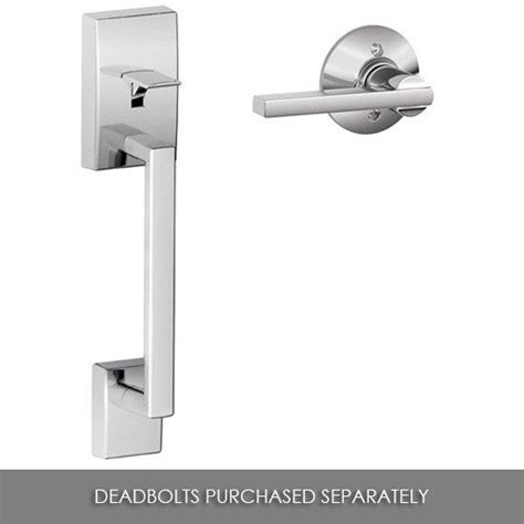 Schlage Exterior Door Hardware Doorknobsonline Offers Schlage Shl 120077 Handleset Bright Chrome Schlage Door Hardware