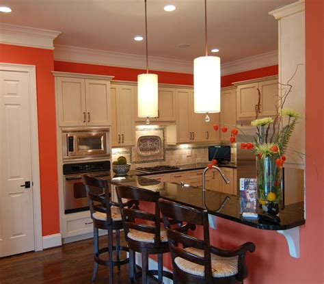 Coral Kitchen Coral Walls Living Room Traditional With Dark Wood Coffee