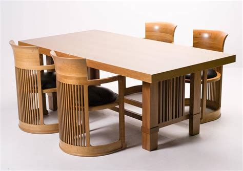 Drexel Dining Room Set by Cassina Taliesin Dining Table And Barrel Chairs Designed