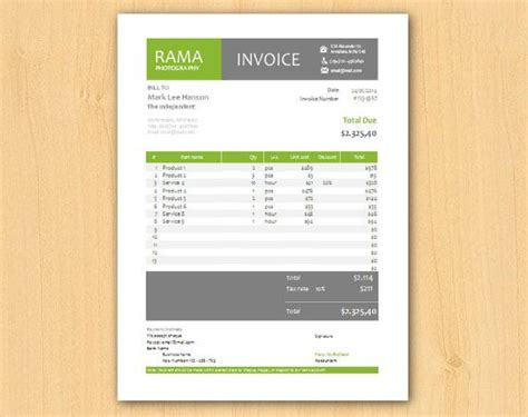 Modern Invoice Template 1000 images about invoices on 50