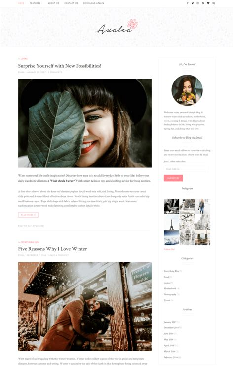 stylish templates for blogger free lifestyle wordpress themes 10 best templates for