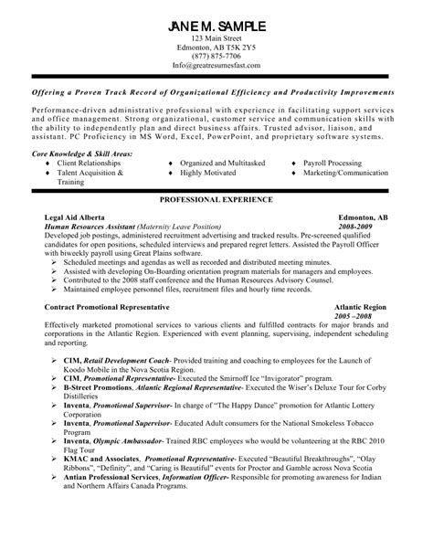 resume resources exles human resources assistant resume exle cover letter