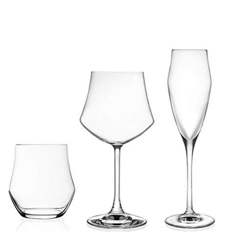 bicchieri per spumante rcr ego set 18 bicchieri acqua e flute per spumante