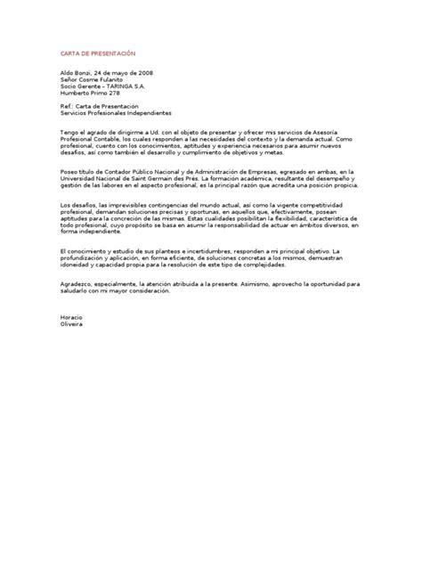 carta propuesta de seguros carta de presentaci 211 n servicios profesionales independientes