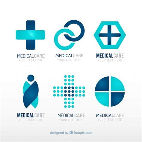 free logo design medical blue medical center logo templates vector free download